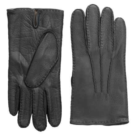 Portolano Handsewn Deerskin Gloves - Cashmere Lined (For Men) in Shale - Closeouts