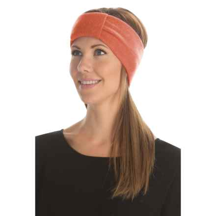 Portolano Knot-Front Headband - Cashmere (For Women) in Coral - Closeouts