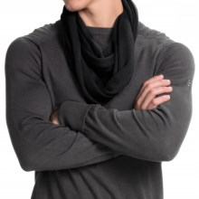 Portolano Merino Wool Infinity Scarf (For Men and Women) in Black - Closeouts