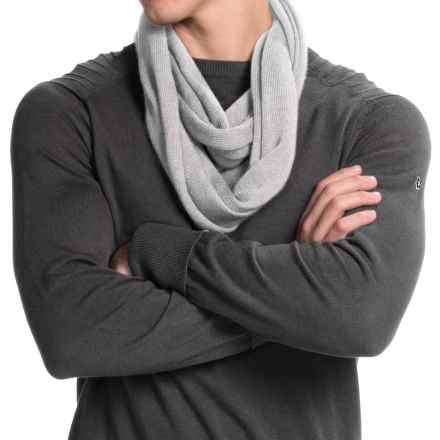 Portolano Merino Wool Infinity Scarf (For Men and Women) in Frost - Closeouts