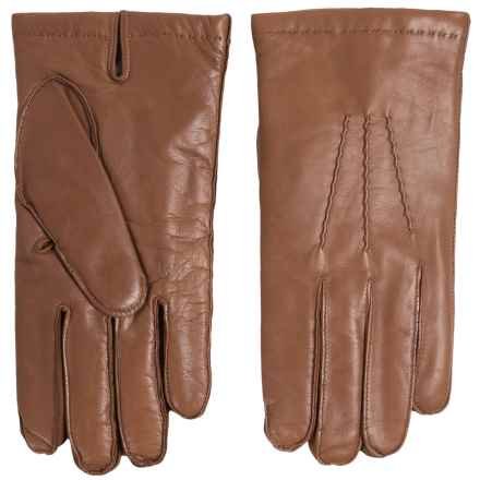 Portolano Nappa Sheepskin Gloves - Cashmere Lining (For Men) in Cognac - Closeouts