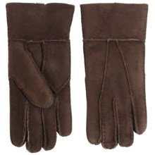 Portolano Patchwork Shearling Gloves (For Women) in Brown - Closeouts