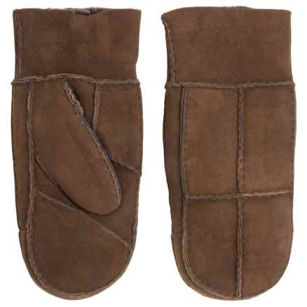 Portolano Patchwork Shearling Mittens (For Women) in Brown - Closeouts