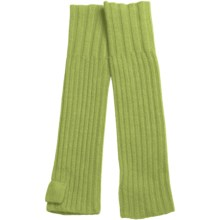 """Portolano Ribbed Cashmere 15"""" Gloves - Fingerless (For Women) in Celery Green - Closeouts"""