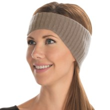 Portolano Ribbed Cashmere Headband (For Women) in Nile Brown - Closeouts