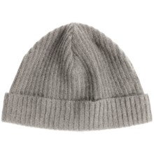 Portolano Ribbed Cashmere Stocking Cap (For Men and Women) in Light Heather Grey - Closeouts
