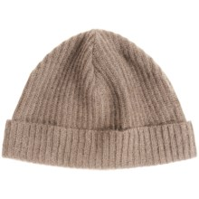 Portolano Ribbed Cashmere Stocking Cap (For Men and Women) in Nile Brown - Closeouts
