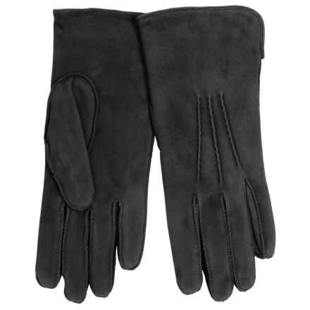 Portolano Rock Suede and Lambswool Gloves (For Women) in Black - Closeouts