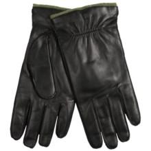 Portolano Saddle Stitch Italian Nappa Leather Gloves - Angora Lining (For Men) in Black/Fern - Closeouts