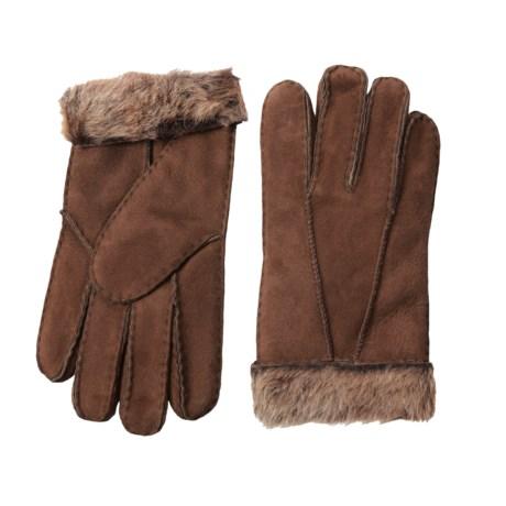 Portolano Shearling Gloves (For Women) in Brown/Brown