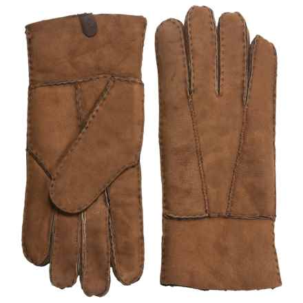 Portolano Shearling Gloves (For Women) in Chestnut/Black - Closeouts