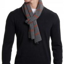 Portolano Stripe Cashmere Scarf (For Men) in Dark Heather Grey/Rust - Closeouts