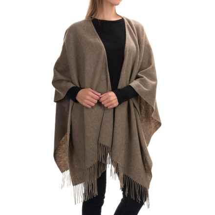 "Portolano Wool Ruana Poncho - 50x57"" (For Women) in Camel - Closeouts"