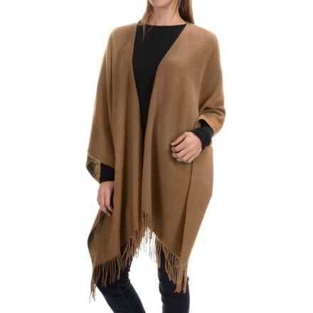 "Portolano Wool Ruana Poncho - 50x57"" (For Women) in Nile Brown - Closeouts"