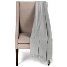 Portolano Woven Cashmere Throw Blanket with Fringe in Light Grey - Overstock