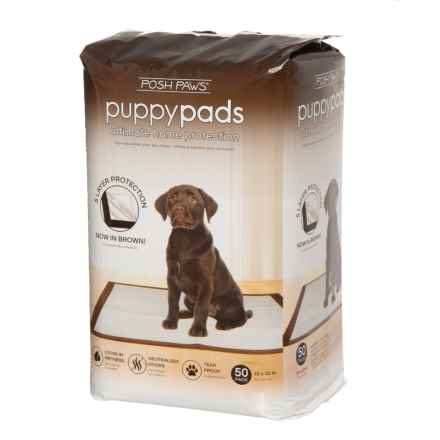 Posh Paws Puppy Pads - 50-Count in Multi - Closeouts
