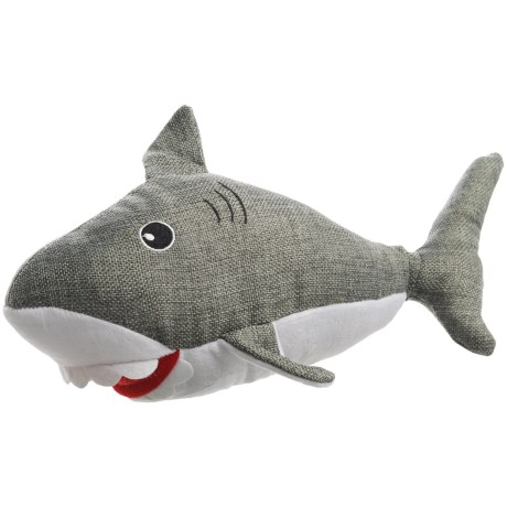 Posh Paws Shark Plush Dog Toy - Squeaker in Gray