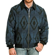 Powder River Outfitters Arizona Bomber Coat - Wool Blend (For Men) in Aztec Print - Closeouts