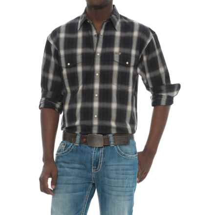 Powder River Outfitters Bandera Plaid Shirt - Snap Front, Long Sleeve (For Men) in Black/White - Closeouts