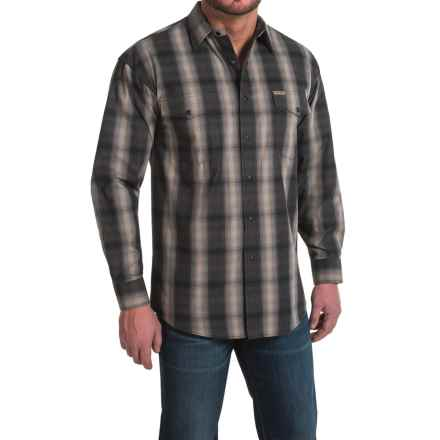 Powder River Outfitters Bandera Plaid Shirt - Snap Front, Long Sleeve (For Men) in Black - Closeouts