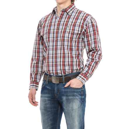Powder River Outfitters Bandera Plaid Shirt - Snap Front, Long Sleeve (For Men) in Brown/Red - Closeouts