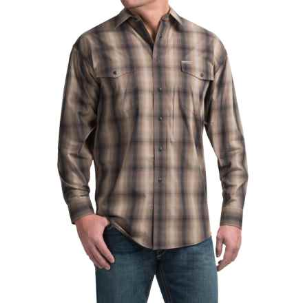 Powder River Outfitters Bandera Plaid Shirt - Snap Front, Long Sleeve (For Men) in Brown - Closeouts