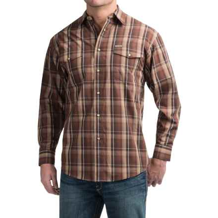Powder River Outfitters Bandera Plaid Shirt - Snap Front, Long Sleeve (For Men) in Dark Brown - Closeouts