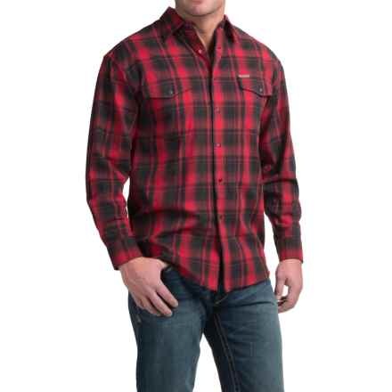 Powder River Outfitters Bandera Plaid Shirt - Snap Front, Long Sleeve (For Men) in Red - Closeouts