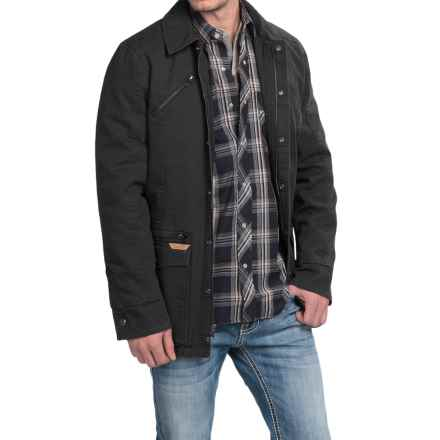 Powder River Outfitters Billings Snow-Washed Canvas Coat (For Men) in Black - Closeouts