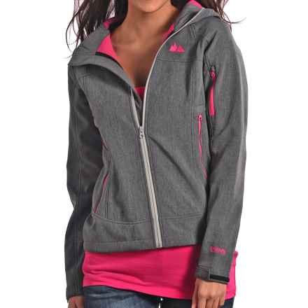 Powder River Outfitters Bonded Fleece Jacket - Full Zip (For Women) in Grey - Closeouts
