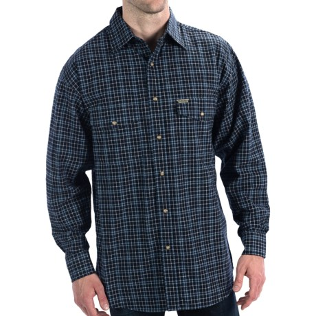 Powder River Outfitters Brushed Bandera Plaid Shirt - Long Sleeve (For Men) in Navy