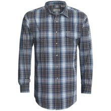 Powder River Outfitters Brushed Bandera Plaid Shirt - Long Sleeve (For Men) in Steel Blue - Closeouts