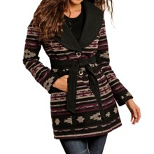 Powder River Outfitters Button-Up Coat (For Women) in Aztec/Black - Closeouts