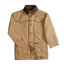 Powder River Outfitters Canvas Lil Rancher Coat (For Boys) in Tan/Brown - Closeouts