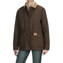 Powder River Outfitters Canvas Rancher Coat - Zip-Out Liner (For Women) in Brown/Tan - Closeouts
