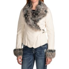 Powder River Outfitters Charis Asymmetrical Coat - Faux Suede (For Women) in White - Closeouts