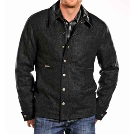 Powder River Outfitters Clayton Coat - Wool Blend (For Men) in Black - Closeouts