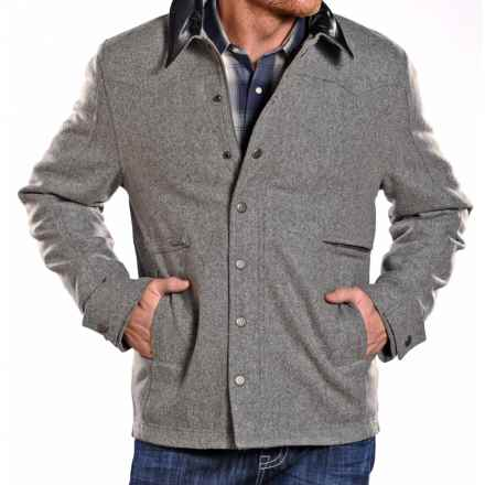 Powder River Outfitters Clayton Coat - Wool Blend (For Men) in Grey - Closeouts