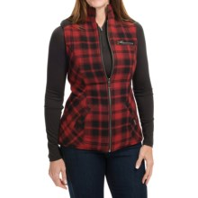 Powder River Outfitters Cora Reversible Vest - Wool (For Women) in Red/Black R/Charcoal - Closeouts