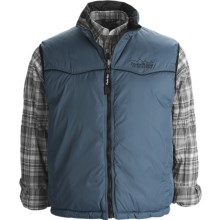 Powder River Outfitters Denali Vest - Taslon Twill, Reversible, Insulated (For Men) in Mystic Ocean - Closeouts
