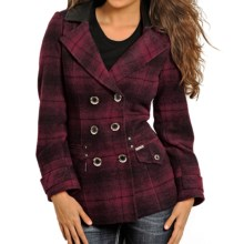 Powder River Outfitters Double-Breasted Coat - Wool (For Women) in Red/Maroon - Closeouts