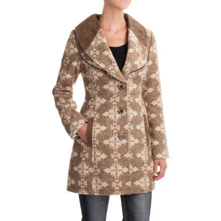 Powder River Outfitters Geometric Coat (For Women) in Bronze - Closeouts