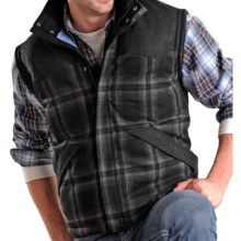 Powder River Outfitters Glendale Plaid Wool Vest (For Men) in Black - Closeouts
