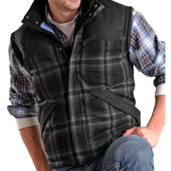 Powder River Outfitters Glendale Plaid Wool Vest (For Men) in Black