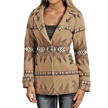 Powder River Outfitters Hannah Coat (For Women) in Tan/Brown - Closeouts