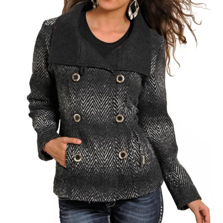 Powder River Outfitters Herringbone Double Breasted Jacket (For Women)