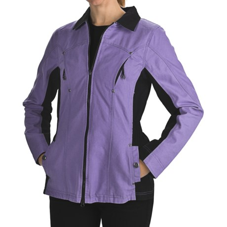 Powder River Outfitters Julietta Jacket - Cotton Canvas (For Women) in 86 Sea Azure
