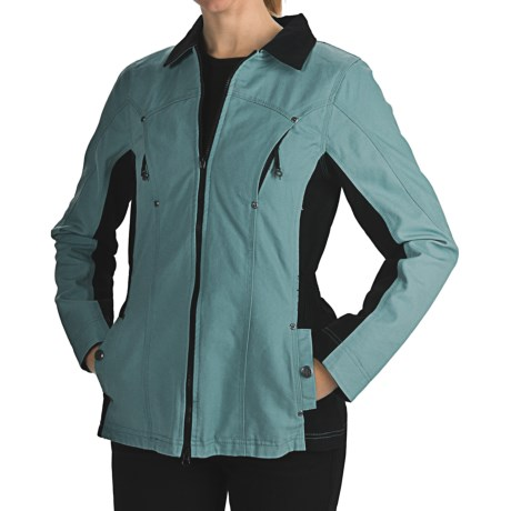 Powder River Outfitters Julietta Jacket - Cotton Canvas (For Women) in 57 Purple Storm
