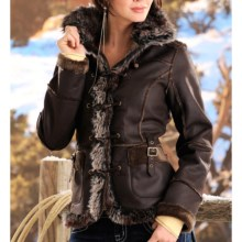 Powder River Outfitters Lacey Coat (For Women) in Dark Brown - Closeouts