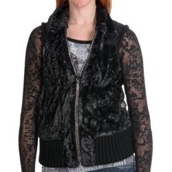 Powder River Outfitters Lansing Vest - Faux Fur (For Women) in White